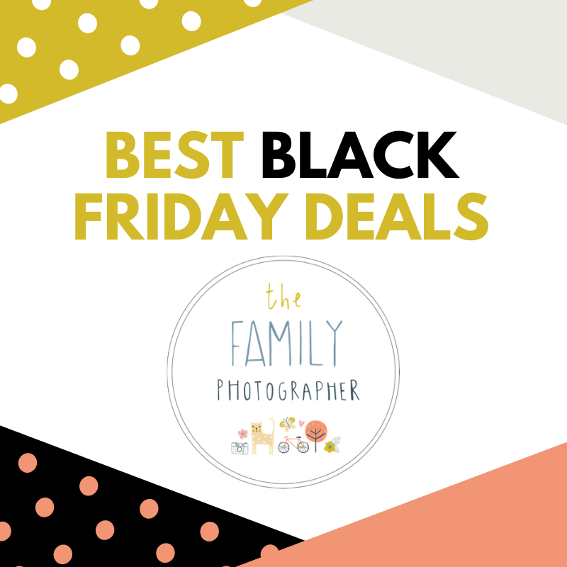 An image showing text advertising Best Black Friday Deals for family photography. You can get a bundle of a photo shoot, choice of six high res images and two large prints for the bargain price of only £199.