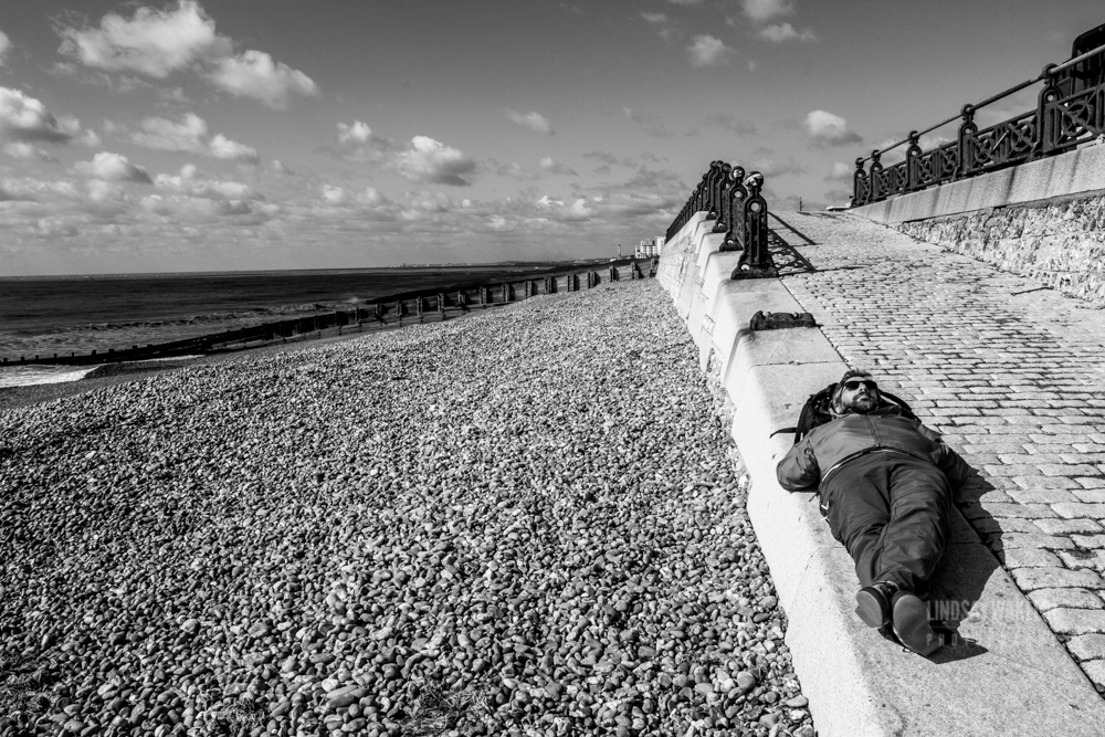 Black and white images of Brighton front in September.